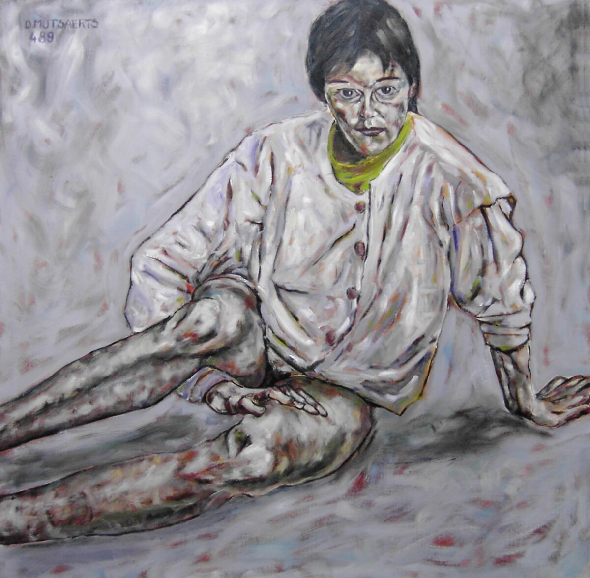1989.4, oil on canvas, 120*120 cm - Dirk Mutsaerts