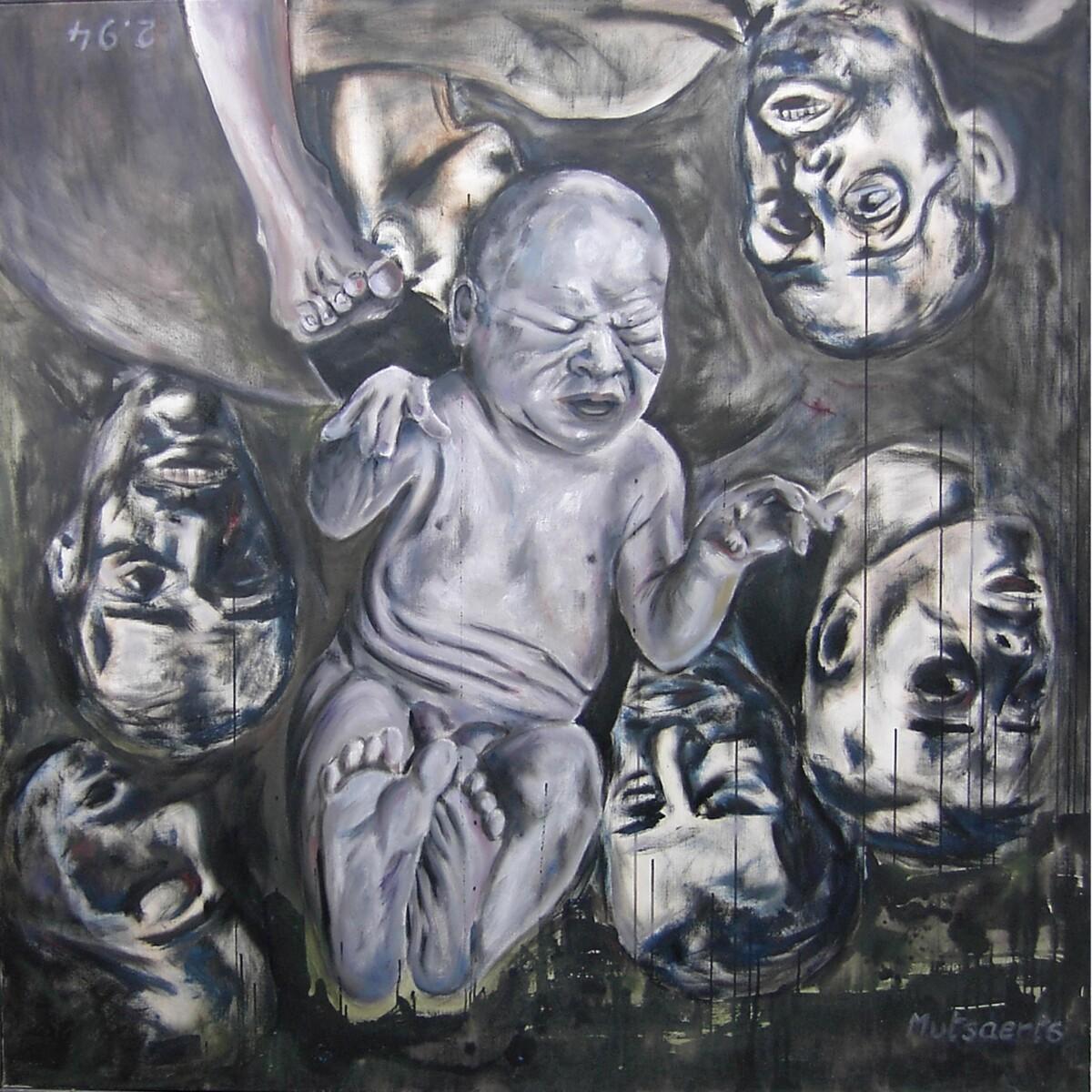 1994.2, oil on canvas, 150*150 cm - Dirk Mutsaerts