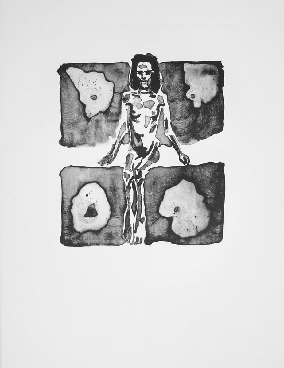 1996_ Schmuck Mädchen, lithography on Arches Velin, 42*32 cm - Dirk Mutsaerts