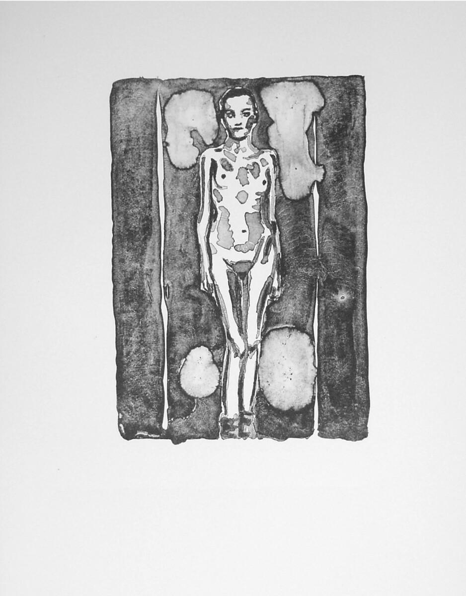 1996_Schmuck Mädchen, litho op Arches Velin, 42*32 cm - Dirk Mutsaerts
