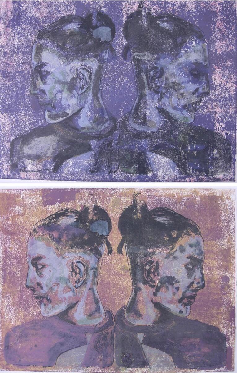 1996, литография на монопринте, 2*50*65 cm - Dirk Mutsaerts