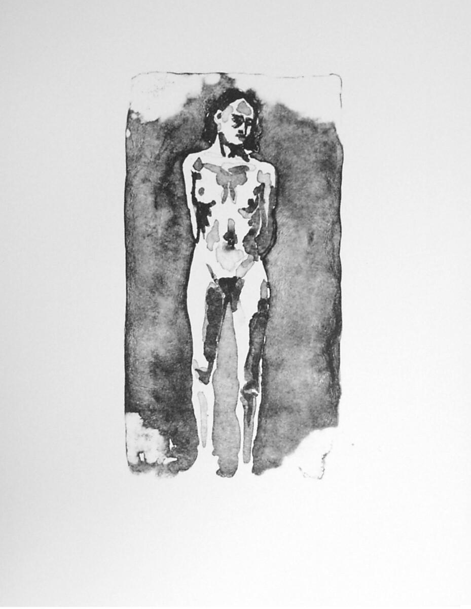 1998_ Schmuck Mädchen, lithography on Arches Velin, 42*32 cm - Dirk Mutsaerts