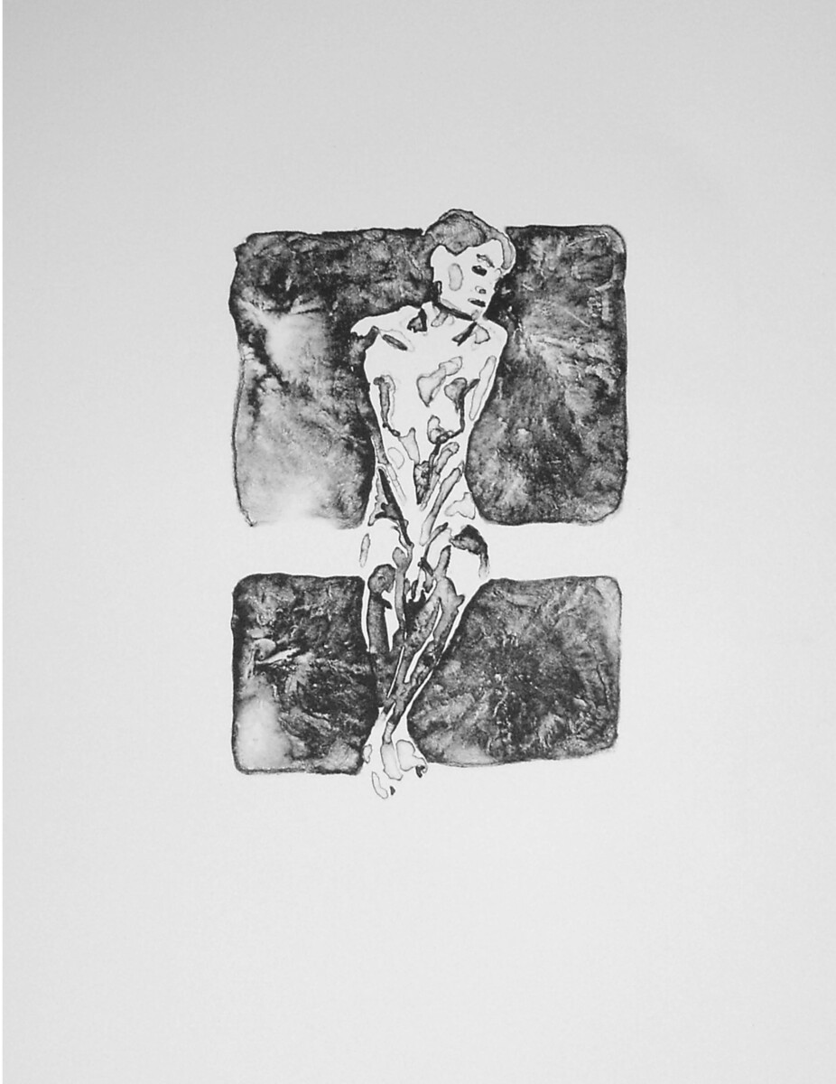 1999_Schmuck Mädchen, lithography on Arches velin, 42*32 cm - Dirk Mutsaerts