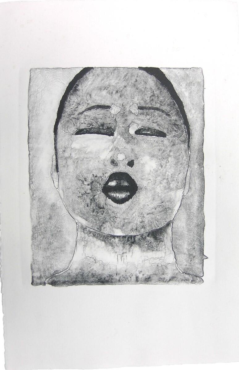2001_Scream, lithography on Arches Velin, 42*32 cm - Dirk Mutsaerts