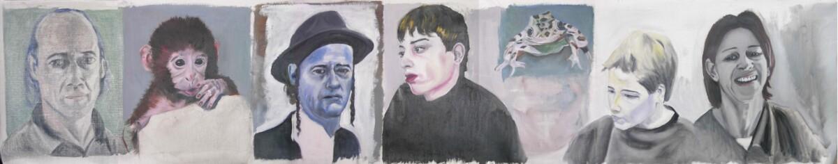 2001_Solo Mio (Только мой), масло на холсте, 50*255 cm - Dirk Mutsaerts